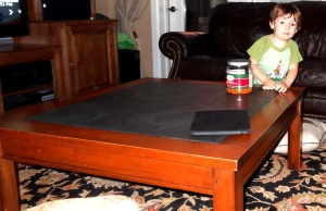 Ethan Allen Tango table before