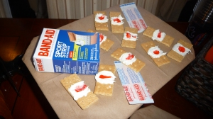 We saved all of our used bandaids.